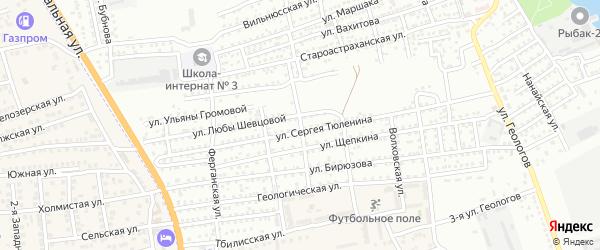 Зоологическая улица на карте Астрахани с номерами домов
