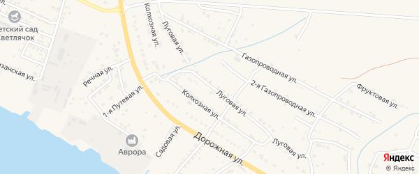 Луговая улица на карте села Яксатово с номерами домов