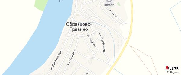 Улица Чехова на карте села Образцово-Травино с номерами домов