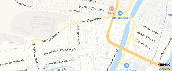 Знаменская улица на карте Астрахани с номерами домов