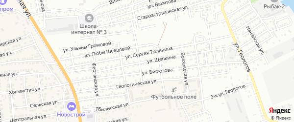 Улица Щепкина на карте Астрахани с номерами домов