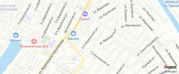 Кременецкий переулок на карте Астрахани с номерами домов