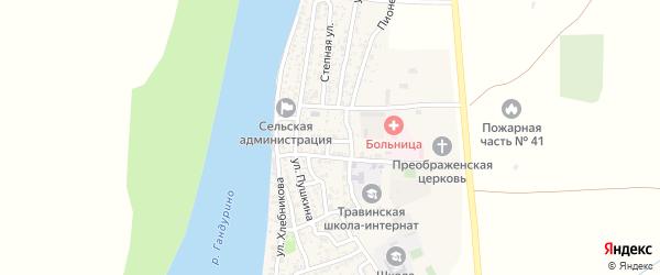 Ловецкая улица на карте села Образцово-Травино с номерами домов