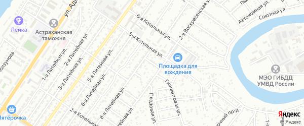 Аэропортовский 1-й переулок на карте Астрахани с номерами домов