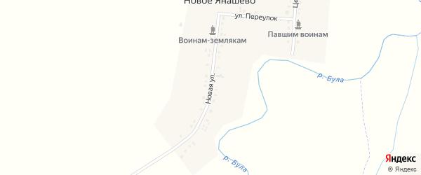 Новая улица на карте деревни Новое Янашево с номерами домов
