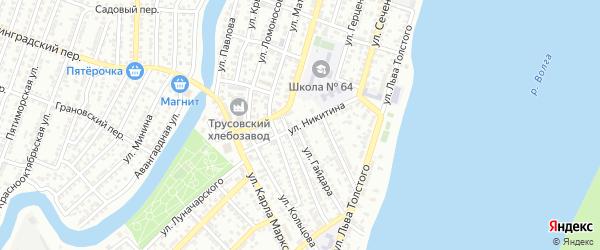 Улица Никитина на карте Астрахани с номерами домов