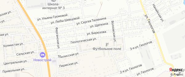 Геологическая улица на карте Астрахани с номерами домов