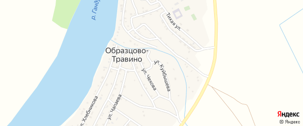 Улица Куйбышева на карте села Образцово-Травино с номерами домов