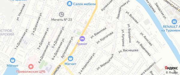 Улица Вавилова на карте Астрахани с номерами домов