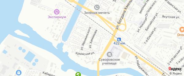Улица Хамимова на карте Астрахани с номерами домов
