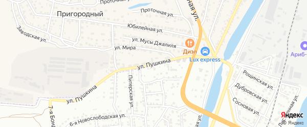 Улица Пушкина на карте села Солянки с номерами домов