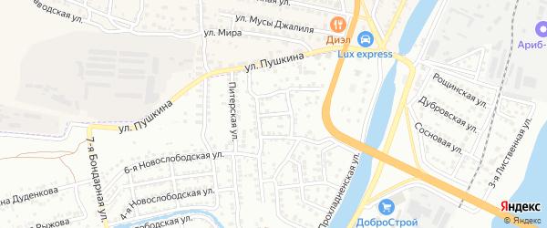 Знаменский 4-й переулок на карте Астрахани с номерами домов