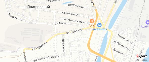 Улица Пушкина на карте Пригородного поселка с номерами домов