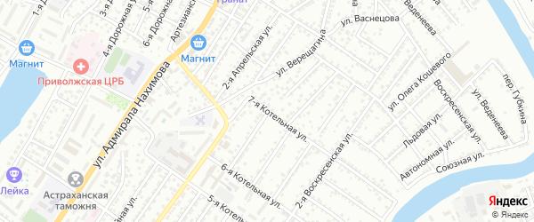 Воскресенская 5-я улица на карте Астрахани с номерами домов