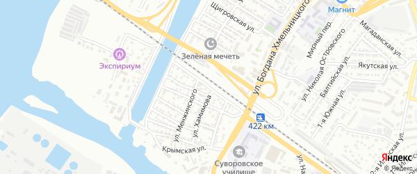 Шемахинская улица на карте Астрахани с номерами домов
