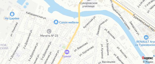Улица Баталова на карте Астрахани с номерами домов