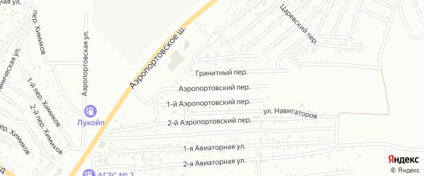 Аэропортовский переулок на карте Астрахани с номерами домов