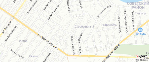 Абрикосовая улица на карте Астрахани с номерами домов
