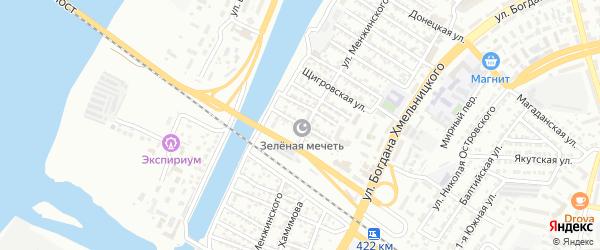Вологодская улица на карте Астрахани с номерами домов