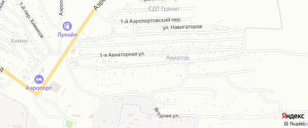 Аэропортовская 2-я улица на карте Астрахани с номерами домов