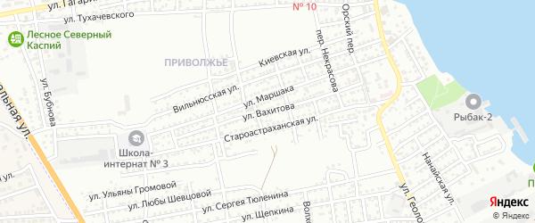 Улица Вахитова на карте Астрахани с номерами домов