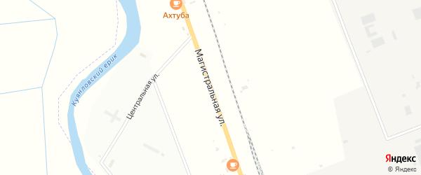 Магистральная улица на карте Аксарайского поселка с номерами домов
