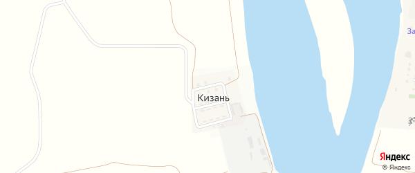 Прудовая улица на карте поселка Кизань с номерами домов