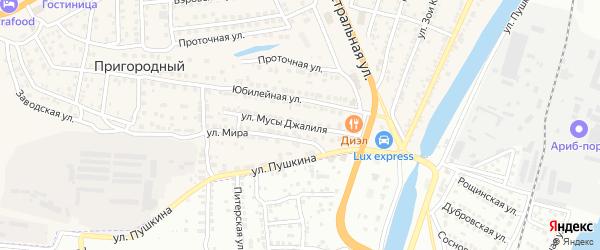 Улица Мусы Джалиля на карте Пригородного поселка с номерами домов