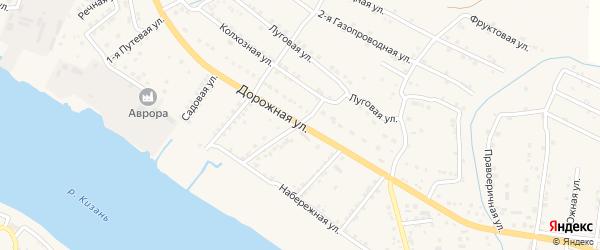 Дорожная улица на карте села Яксатово с номерами домов