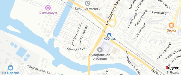 Батумская улица на карте Астрахани с номерами домов