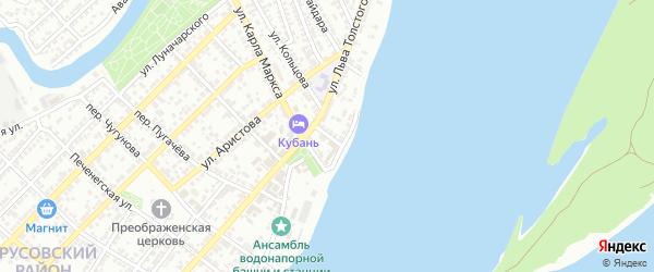 Волжский переулок на карте Астрахани с номерами домов