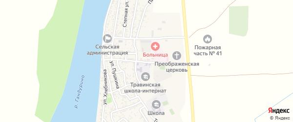 Школьная улица на карте села Образцово-Травино с номерами домов