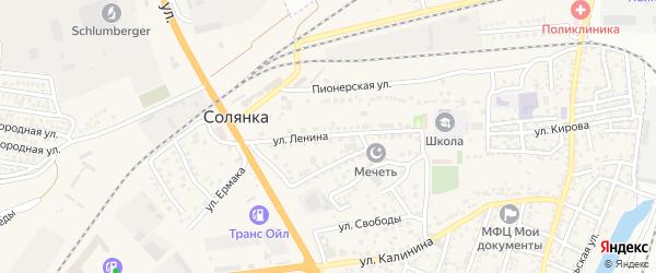 Улица Ленина на карте села Солянки с номерами домов