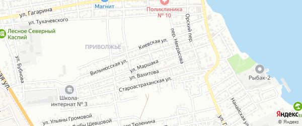 Улица Маршака на карте Астрахани с номерами домов