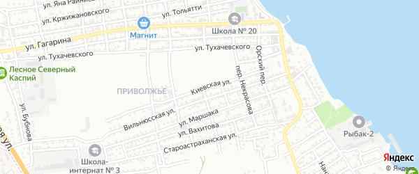 Киевская улица на карте Астрахани с номерами домов
