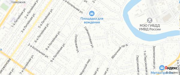 Гиацинтовая улица на карте Астрахани с номерами домов