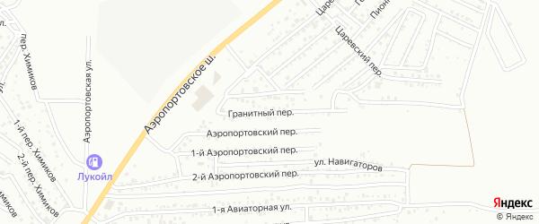 Гранитный переулок на карте Астрахани с номерами домов