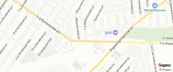 Грушевый переулок на карте Астрахани с номерами домов