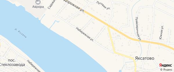 Набережная улица на карте села Яксатово с номерами домов
