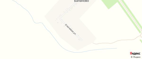 Ключевая улица на карте деревни Баланово с номерами домов