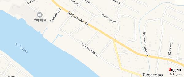 Улица Суворова на карте села Яксатово с номерами домов