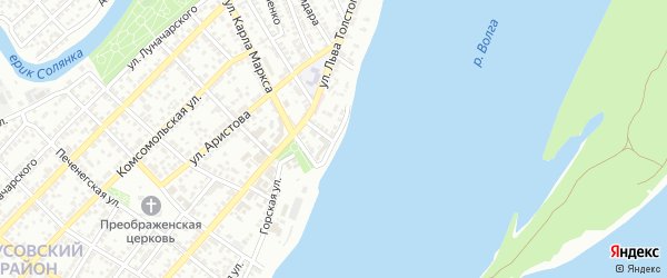 Улица Качалова на карте Астрахани с номерами домов