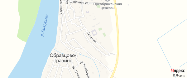Тихая улица на карте села Образцово-Травино с номерами домов