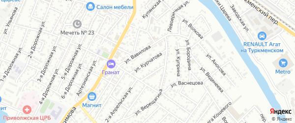 Улица Курчатова на карте Астрахани с номерами домов