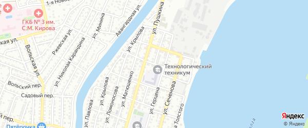 Улица Лермонтова на карте Астрахани с номерами домов