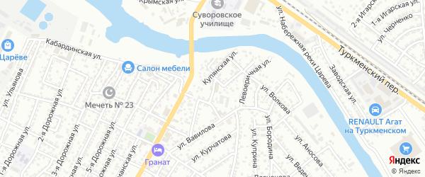 Ковельская улица на карте Астрахани с номерами домов