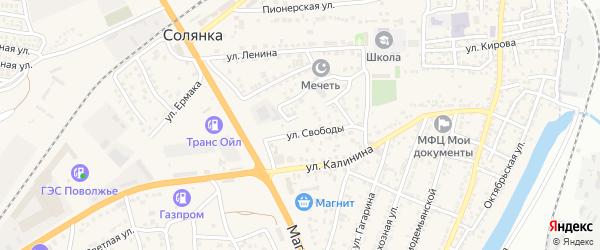Улица Свободы на карте села Солянки с номерами домов