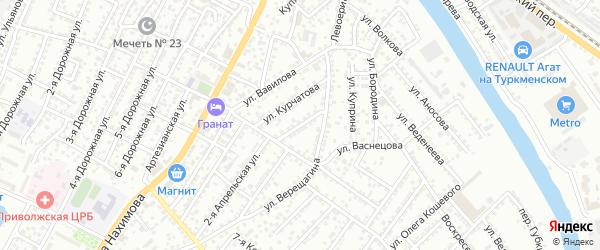 Улица Советской Армии на карте Астрахани с номерами домов