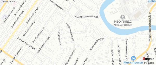 Лютиковая улица на карте Астрахани с номерами домов