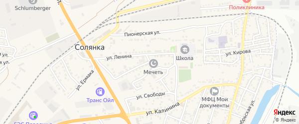 Сентябрьская улица на карте села Солянки с номерами домов